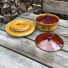 More details for vintage royal worcester palissy taurus bull side plates dinner plates tureen