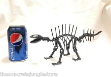 "Recycled Scrap Metal Art Sculpture Dinosaur Handmade 11"" Long"