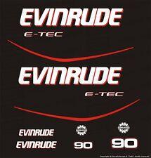 Adesivi motore marino fuoribordo Evinrude 90 cv E-TEC gommone barca