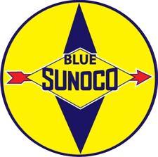 Vintage Blue Sunoco Gasoline Gas Decal - Best!