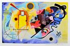 """Wassily Kandinsky YELLOW RED & BLUE Estate Signed Limited Edition Art 15"""" x 22"""""""