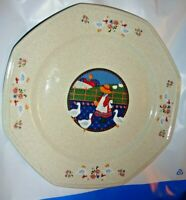 Market Square Round Octagonal Plate 10 ½ Inch Platter Country Duck Plain & Fancy