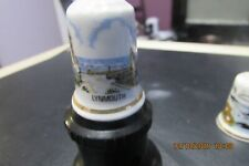 LYNMOUTH   BONE CHINA THIMBLE WITH SEA VIEW PICTURE