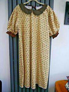 New Fancy dress vintage 1900s floral tunic dress size 18-30 one size plus