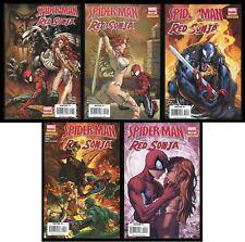 Spider-Man Red Sonja Comic Set 1-2-3-4-5 Lot Venom Michael Turner & Mel Rubi art