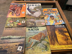 VTG 6 LOT *HOW TO DRAW & PAINT ART INSTRUCTION BOOKS * WALTER T FOSTER