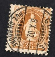 SUISSE-   N°:80 -  USED- YEAR 1887   CV : 22 €