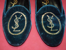 YSL Yves Saint Laurent Italy Logo Slipper Vintage Flats Shoes Size 6 M RARE