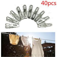 Pack 40 Pratique Inox Pinces à Linge Clips Chaussons Clips Pins Clamps Set