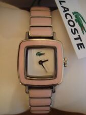 RARE AUTHENTIC LACOSTE LADIES PINK SWING WATCH STAINLESS STEEL BAND 2000371