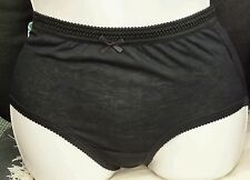 "HEANA 2 PACKS OF 3 LADIES FULL BRIEFS IN BLACK SIZE OS 40""-42"" HIPS"