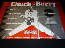 chuck berry  HAIL !  HAIL ! ROCK'N ' ROLL rare  affiche concert musique