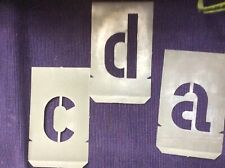 26 Buchstaben-Schablonen mit 10cm Schrifthöhe kleinbuchstabe von a-z aus Metall