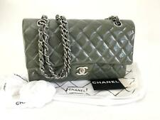 721d508330ae Chanel Classic 2.55 Medium Gray Patent Double Flap Bag w/Authenticity Cert