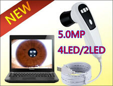 CE NEW 5.0MP 4LED/2LED Lamp USB Eye Iris Iridoscope Iriscope Iridology camera