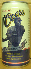 COORS BEER Can WILLIE MCCOVEY Baseball Big Bat Series Golden COLORADO c1997 1/1+