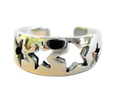 Sterling Silver (925) Adjustable  Stars  Toe Ring  !!     Brand New !!