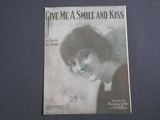 vintage sheet music, Give Me A Smile And Kiss, Alex Sullivan, Louis Handman