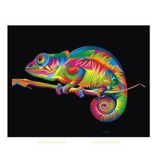 DIY 5D Diamond Embroidery Chameleon Rhinestone Painting Cross Stitch Home Decor