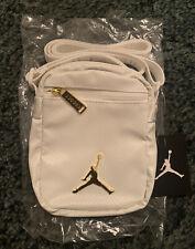 New Air Jordan Premium Leather White Nike Shoulder Bag Style 940234-WK2 O/S