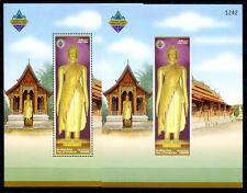 Laos Lao 2003 Buddha Statuen Luangprabang Block 192 A B Perf Imperf  MNH