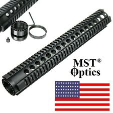 15'' inch Heavy Duty Free Float Quad Rail Hand guard Extended Length Rail System