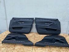 BMW NAPA LEATHER DOOR PANEL PANELS REAR FRONT SET F10 550I 535I 528I (14-16) OEM