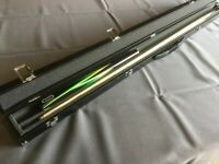 2 Piece Grade A Ash ROCK Snooker Pool Cue Boxed Case Great Value