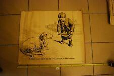 AF1 Ancienne affiche - Protection des animaux - berger mouton