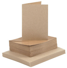 Brown Natural Card Making Blank Cards A6 & Envelopes Pack of 25