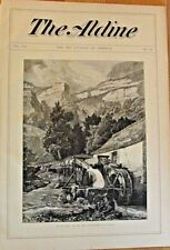 Old Mill,Grist Mill Jura Mountains, C.E. Duboise, Vintage 1874 Antique Art Print
