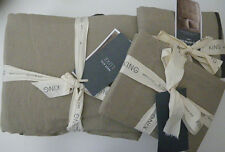 West Elm Luxe Linen Cotton King Duvet Cover with 2 King Shams