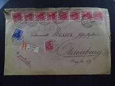 R-Cover Bad Kudowa Glatz strip Schlesien Kriegsfürsorgeamt Kälteschutz 1920