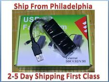 56K USB V9.0 V.92 External Dial Up Voice Fax Data Modem for Window XP WIN7