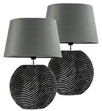 2er Set Tischlampe Tischleuchte Nachttischlampe Schreibtisch Lampe Keramik 5032