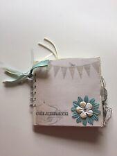"Handmade Paper Bag Scrapbook Album, Every Day ""Celebrate"" 5x5 Spiral Bound"