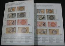 Bosnia-Herzegovina, Complete Specimen Set, 8 notes, Official presentation Folder