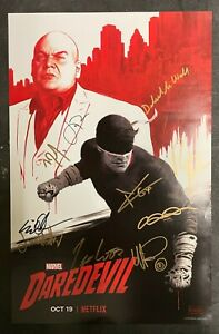 NYCC 2018 Exclusive Marvel DAREDEVIL 10 Cast Signed Poster Cox D'Onofrio NETFLIX