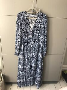 BNWT New Lily and Lionel Blue Animal Print Dress - L