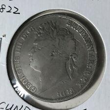 1822 Great Britain 1 Crown Secundo Silver Coin