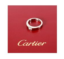 Cartier Diamond Tank Ring Size 48 or 4 1/2 U.S. White Gold with Certificate