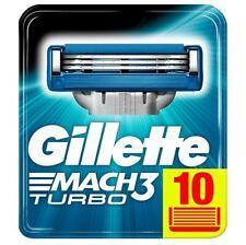 Gillette mach3 turbo, lame di ricambio 10 pezzi. Originale. Nuove.