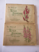 Lot x 2 Wills Cigarette Card Albums: Wild Flowers First+Second Series Full Sets