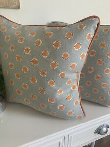 Vanessa Arbuthnott Cushion Cover - Pretty Maids With Velvet Piped Trim