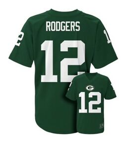 NWT$60 Boy's Youth NFL Green Bay Packers #15 Aaron Rodgers Jersey Size Large