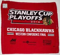 Chicago BLACKHAWKS 2014 Stanley Cup Playoffs Rally TOWEL Western Conf Finals NHL