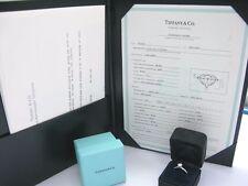 Tiffany & Co Platino Redondo Anillo Solitario Diamante 0.48ct E-VS1