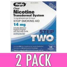 Rugby Clear Nicotine Transdermal System Step 2 14mg 14 Patches *compare to Habitrol *