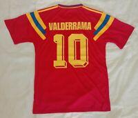 1990 Colombia 10 VALDERRAMA retro vintage classic soccer team away jersey tw