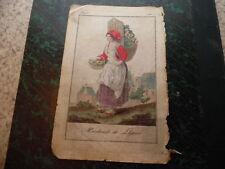 1790.Marchande de légume.gravure en couleurs..